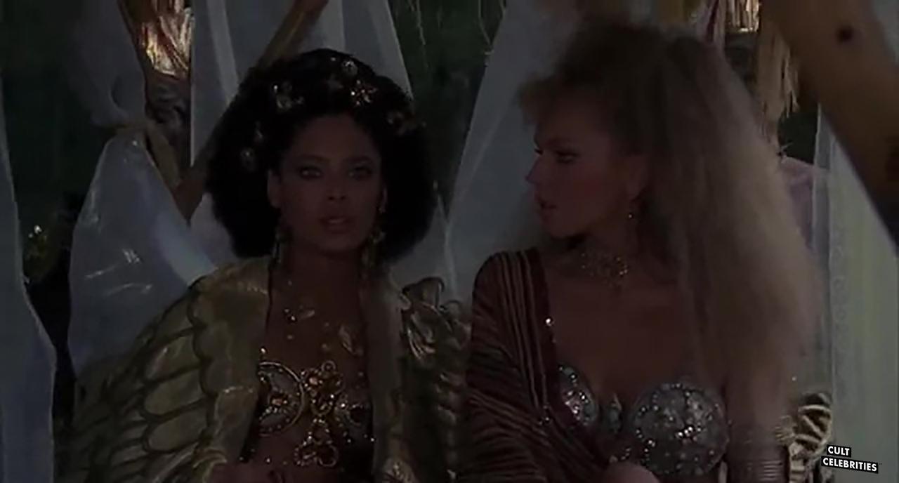 Anna Kanakis and Iris Peynado in Attila flagello di Dio (1982)