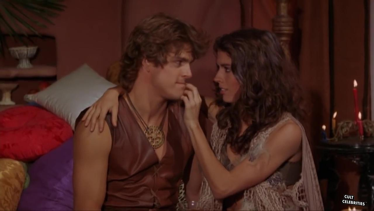 John Terlesky and María Socas in Deathstalker II: Duel of the Titans (1987)
