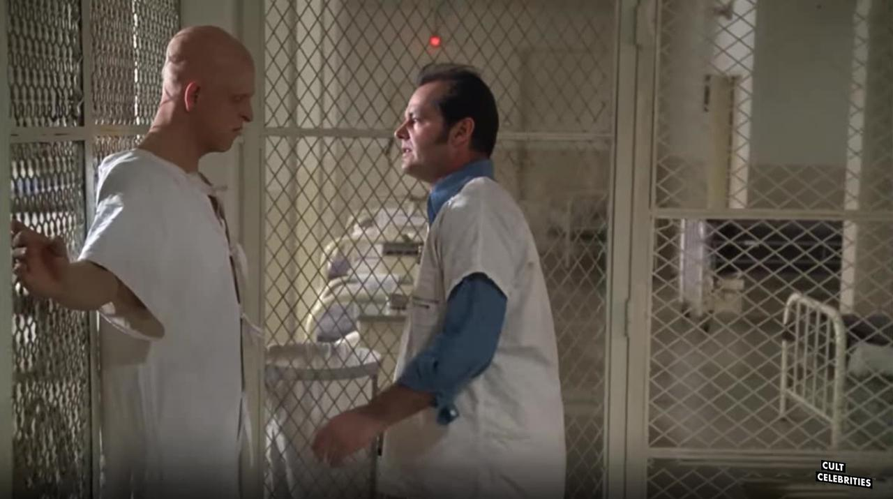 Michael Berryman and Jack Nicholson in One Flew over the Cuckoo's Nest (1975)