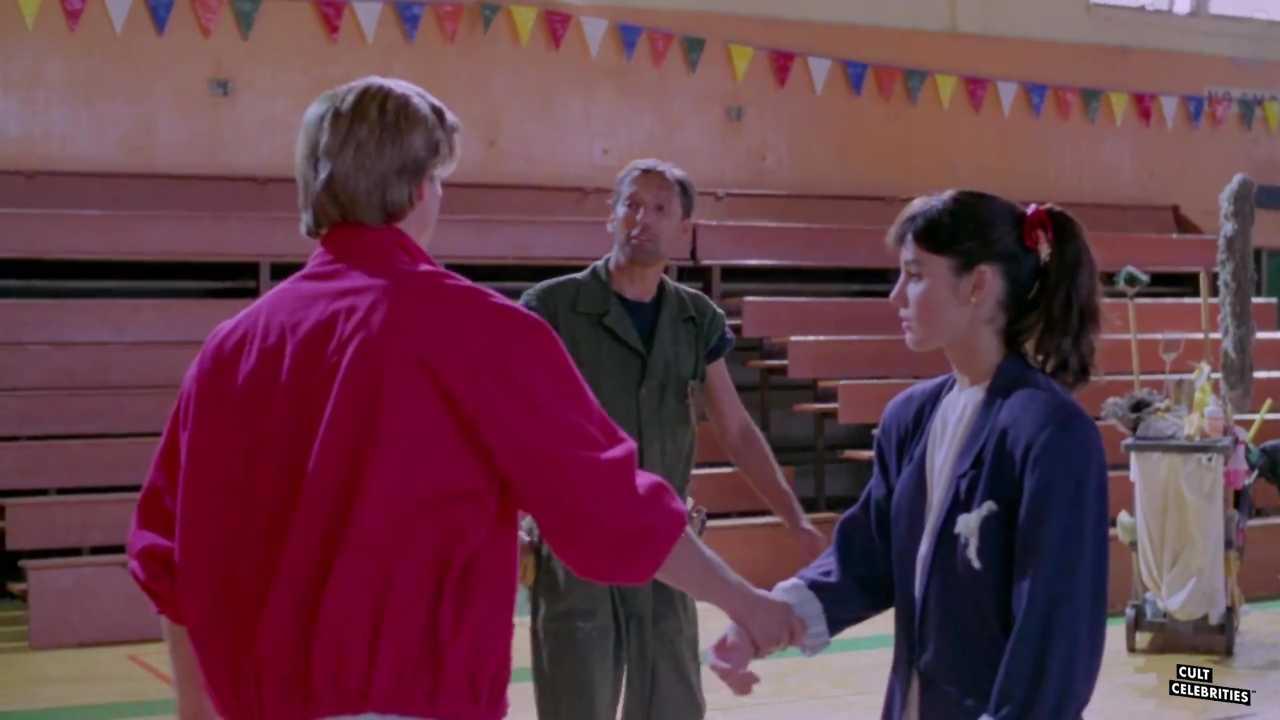 Brad Pitt and Jill Schoelen in Cutting Class (1989)