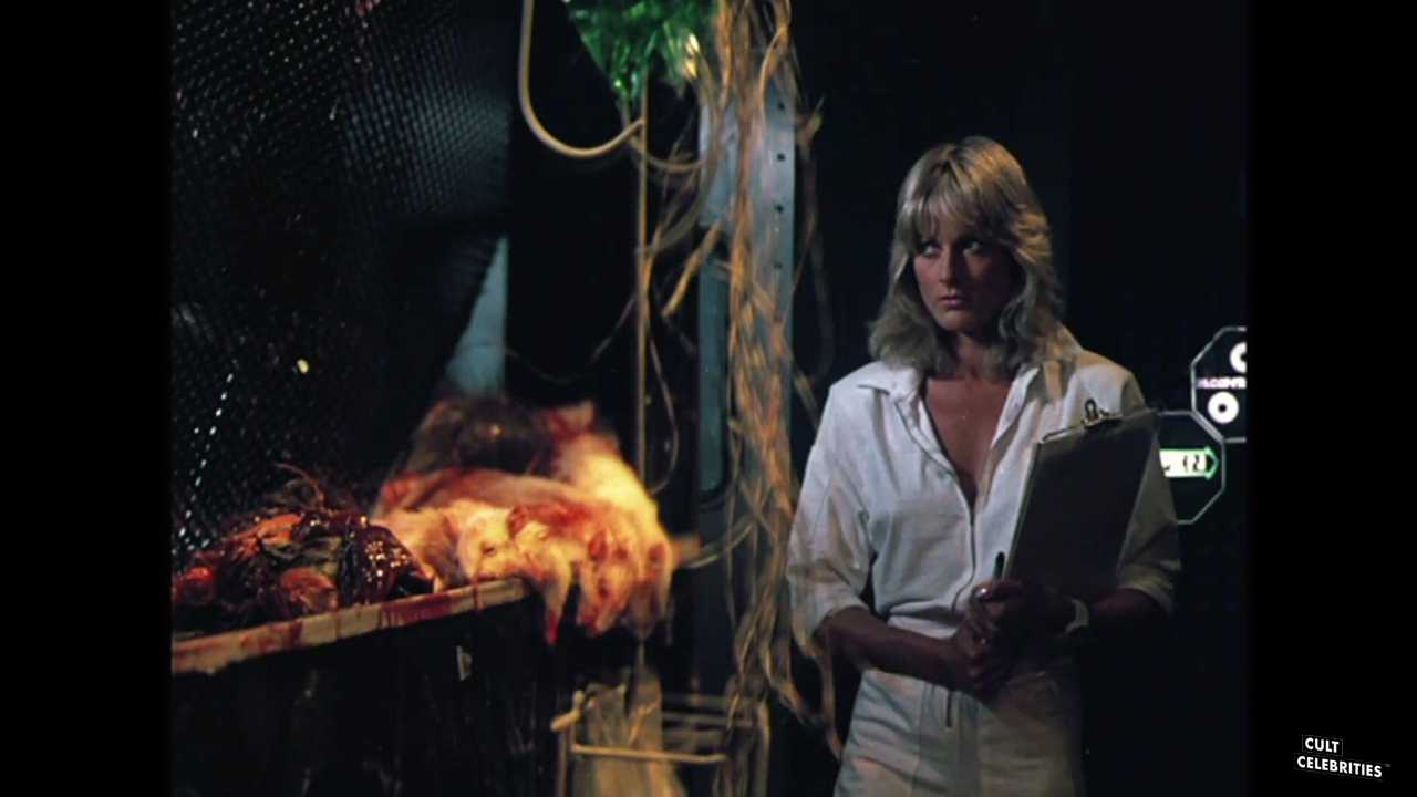 June Chadwick as Dr. Barbara Glaser in Forbidden World (1982)