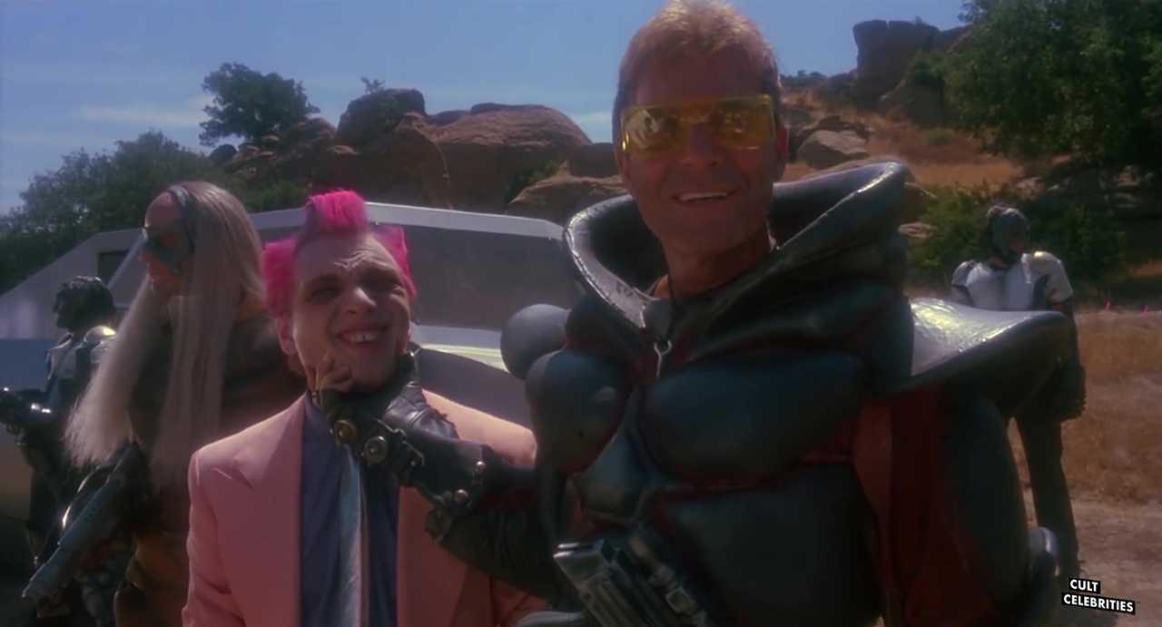 Ross Hagen and Michael Sonye in Star Slammer (1986)