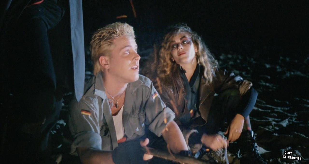 Dawn Wildsmith and Tom Shell in Surf Nazis Must Die (1987)