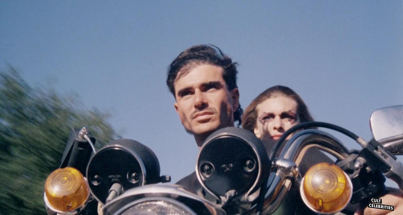 Joel Hile and Dawn Wildsmith in Surf Nazis Must Die (1987)