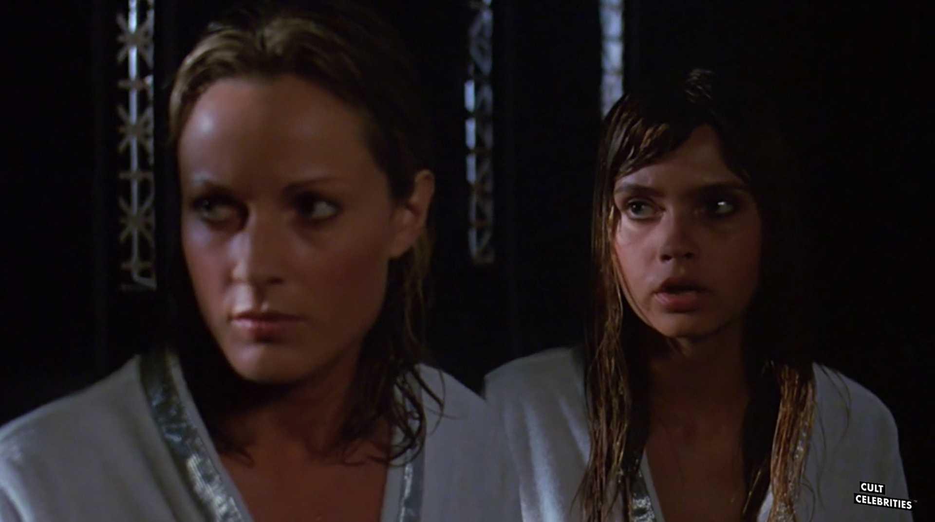 June Chadwick and Dawn Dunlap in Forbidden World (1982)