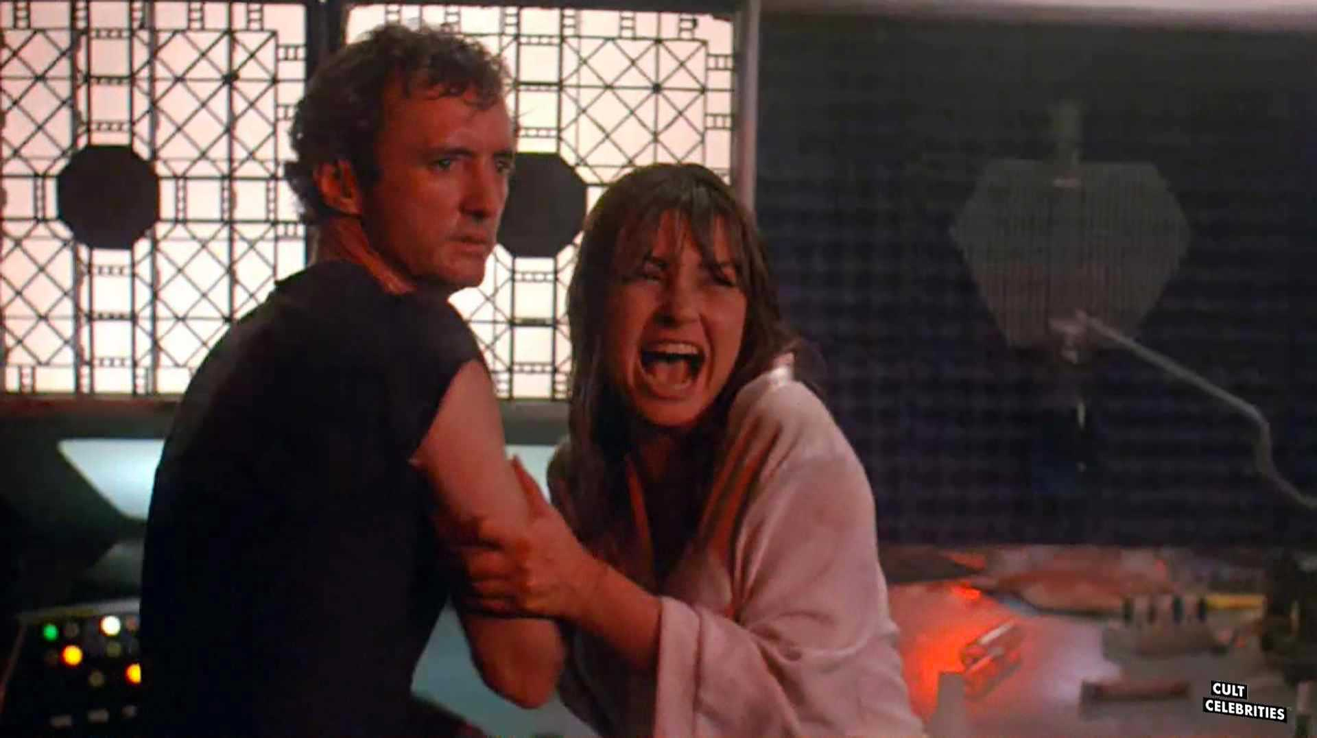 Dawn Dunlap and Jesse Vint in Forbidden World (1982)