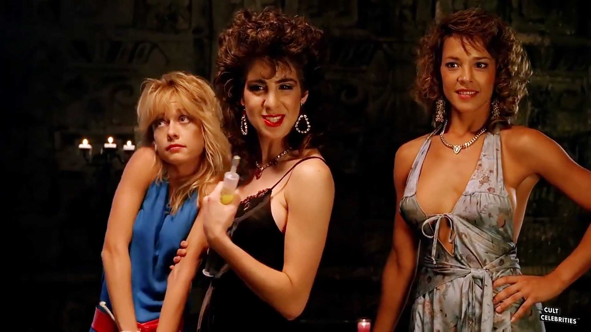 Linnea Quigley, Michelle Bauer and Esther Elise in Hollywood Chainsaw Hookers (1988)