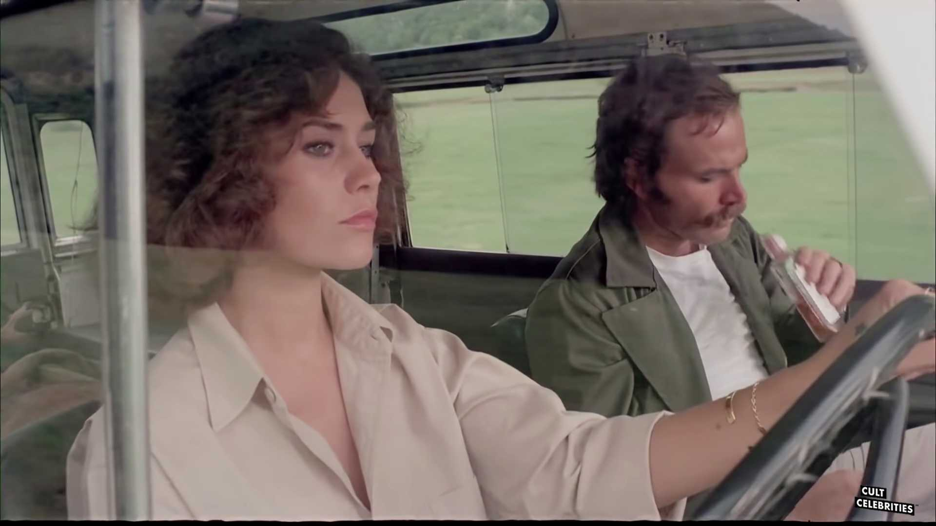 Franco Nero and Corinne Cléry in Hitch-Hike (1977)