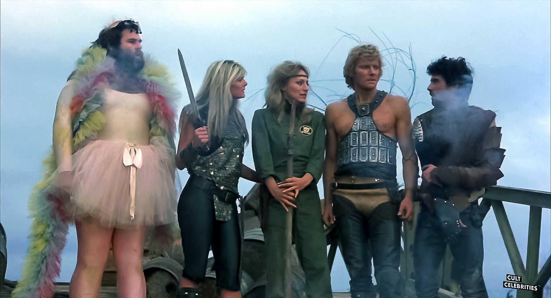 Sandahl Bergman, Harrison Muller and Mario Pedone in She (1984)