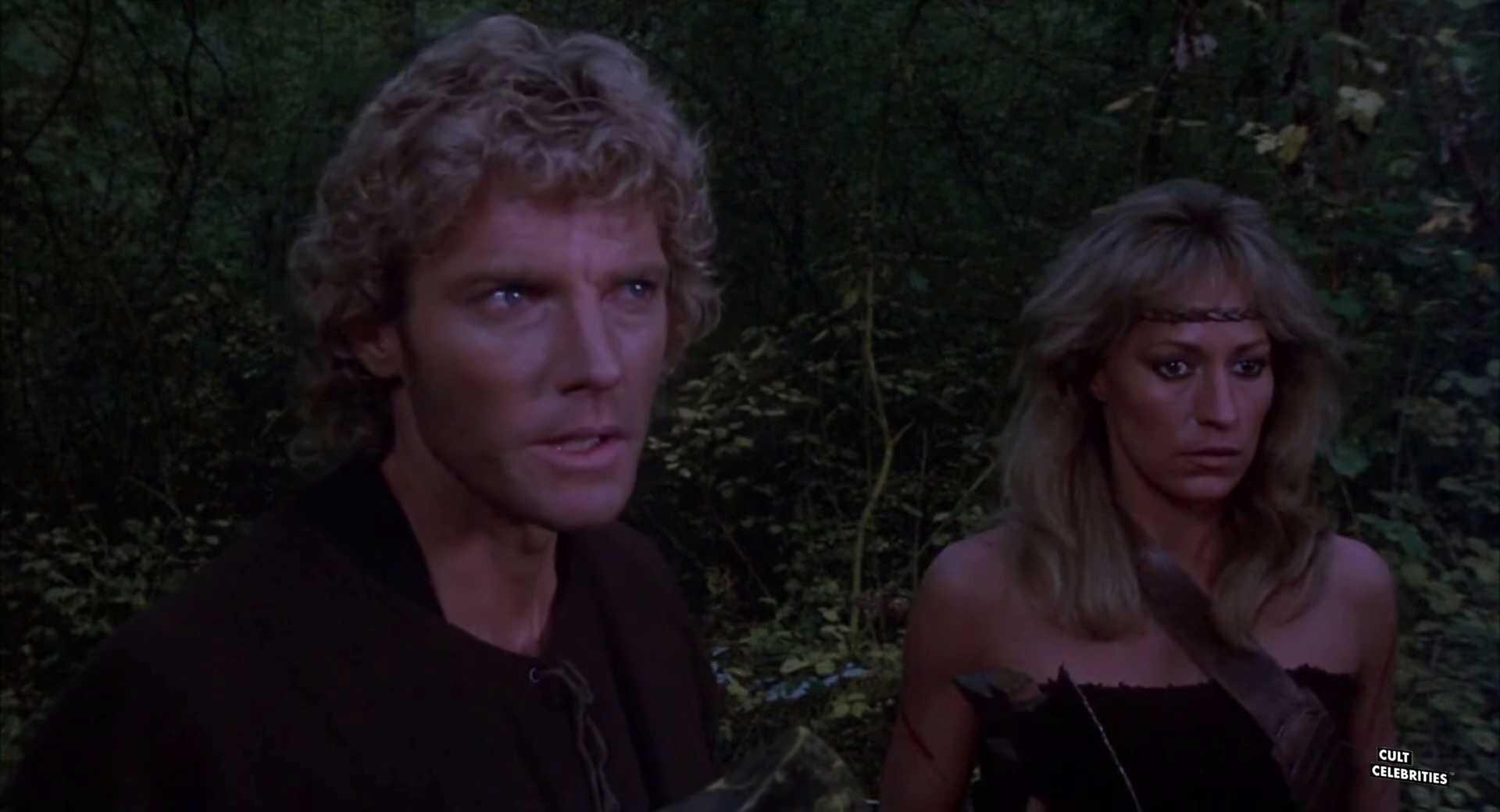 David Goss and Sandahl Bergman in She (1984)