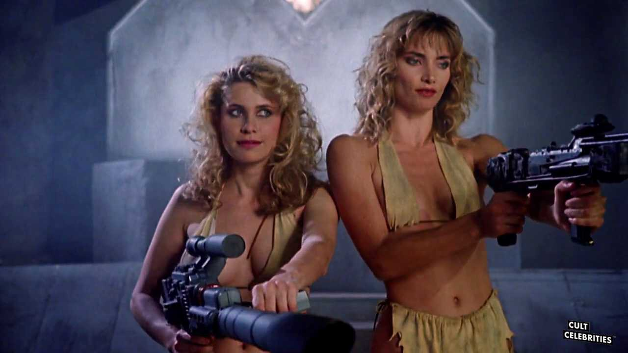 Cindy Beal and Elizabeth Kaitan in Slave Girls From Beyond Infinity (1987)
