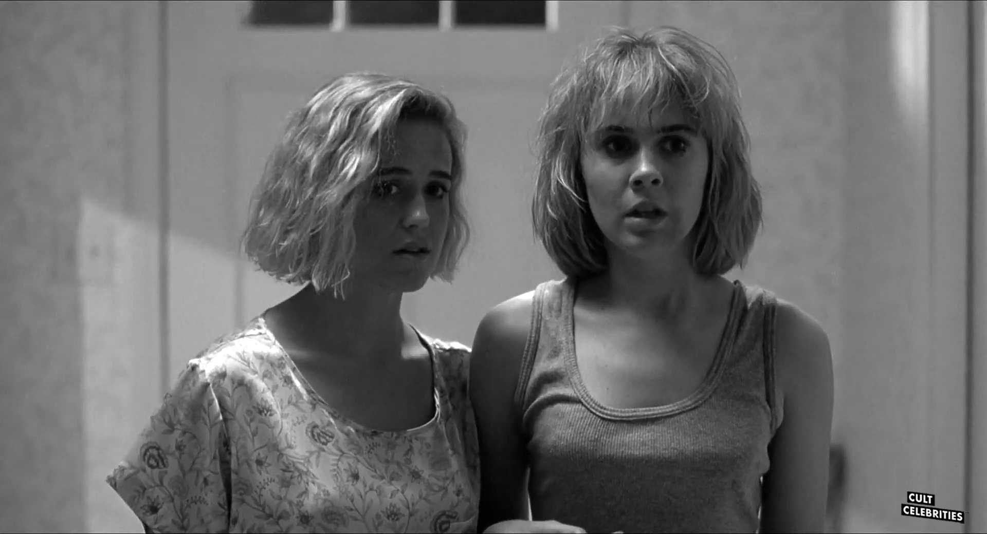 Brandi Burkett and Keely Christian in Slumber Party Massacre III (1990)