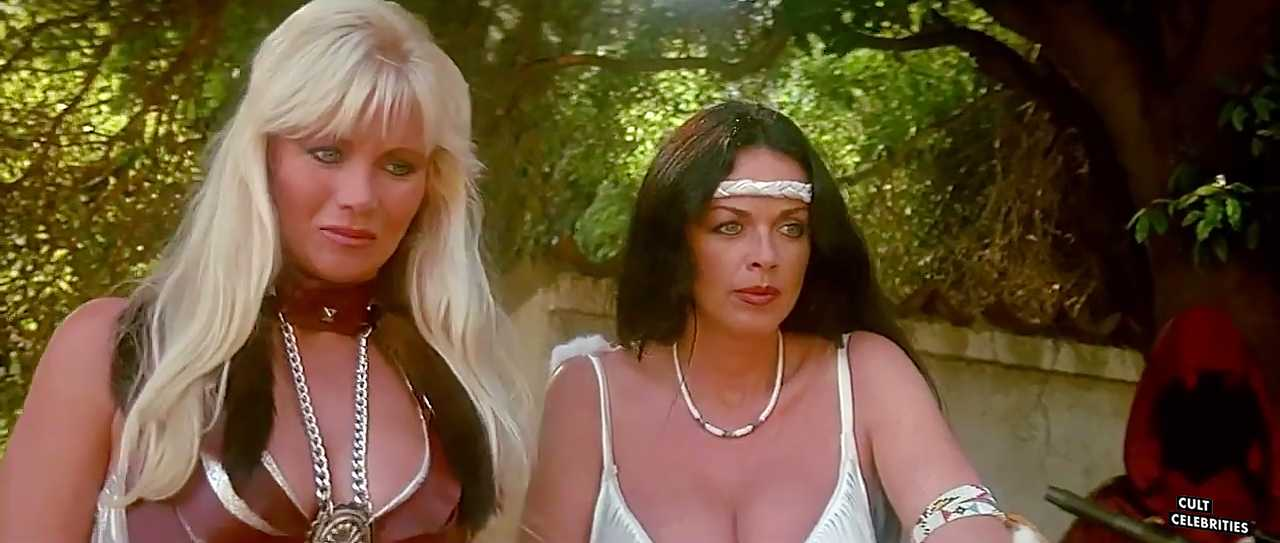 Angela Aames and Raven De La Croix in The Lost Empire (1984)