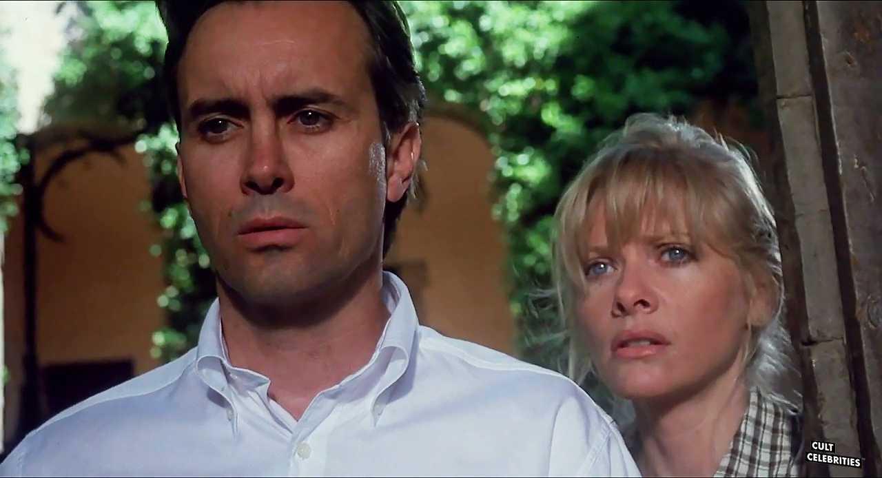 Barbara Crampton and Jeffrey Combs in Castle Freak (1995)