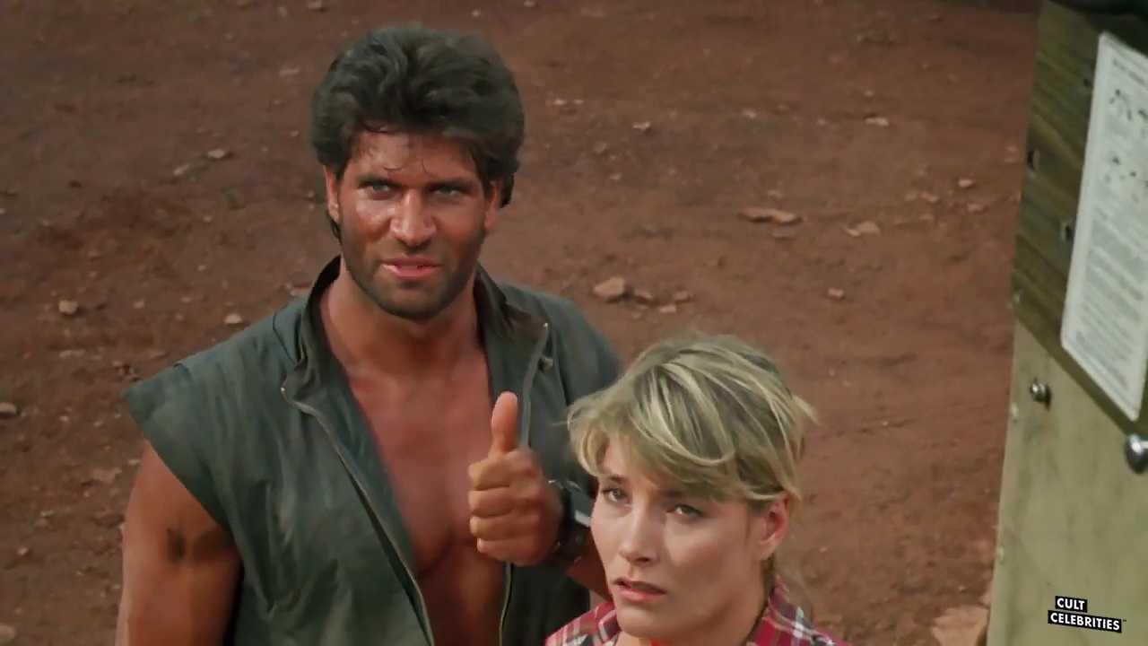 Daniel Greene and Janet Agren in Hands of Steel (1986)