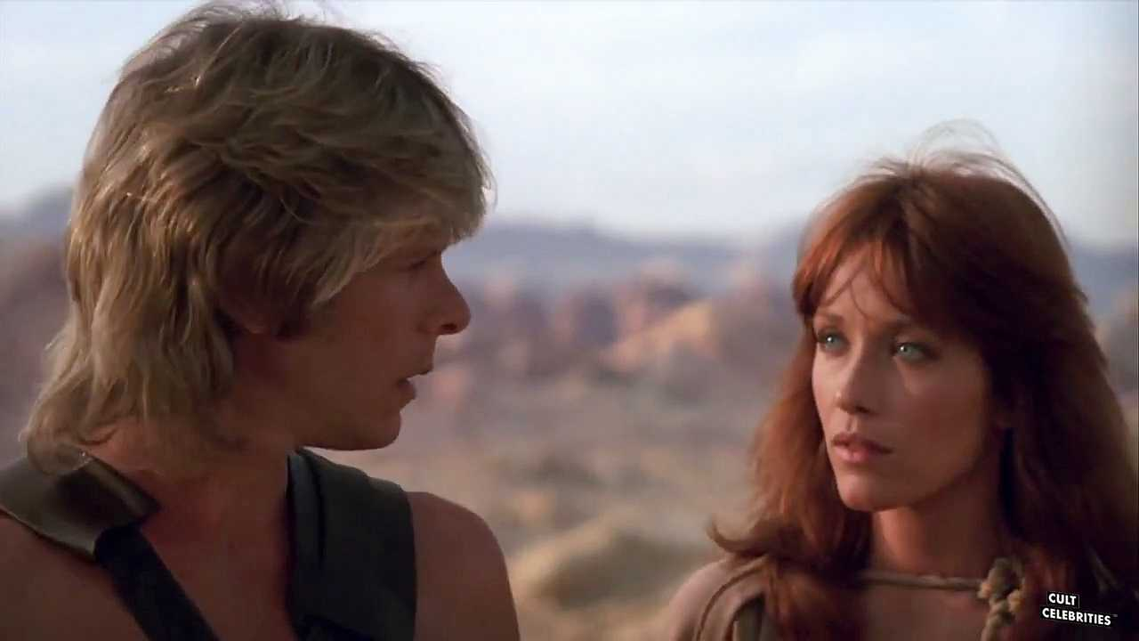Tanya Roberts and Marc Singer in The Beastmaster (1982)