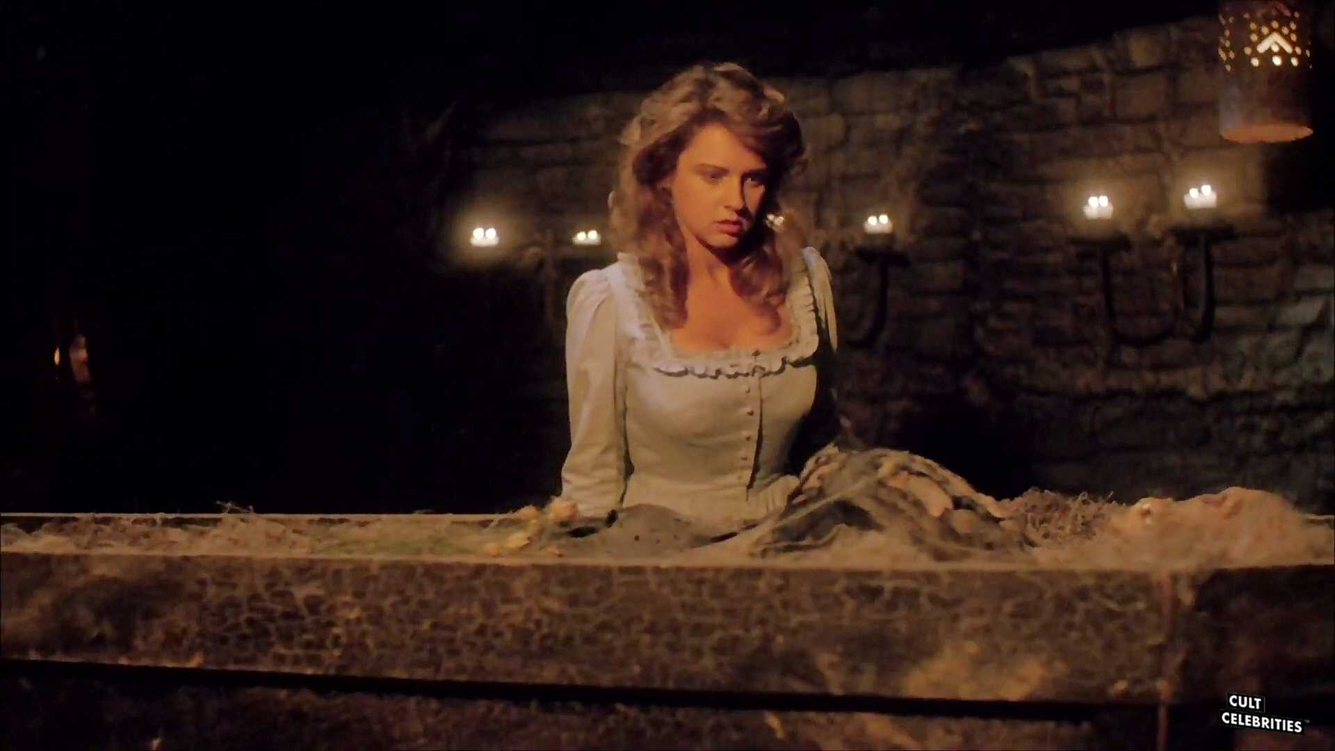 Gail Thackray (also known as Gail Harris) in The Haunting of Morellawith Lana Clarkson, Debbie Dutch and Maria Ford.